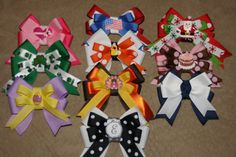 Holiday Bundle Bows for Holidays Valentines Day Bow by bowsforme, $40.00
