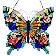 Chloe Lighting Tiffany Style Butterfly Window Panel