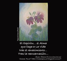 El Espíritu... el Alma que llega a La Vida tras el renacimiento... Tras la reencarnación... // Dibujo de Joanna Powell // Grupo Artemorilla (www.artemorilla.com) // Suzanne Powell (http://suzannepowell.blogspot.com.es/)
