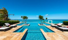 How cool! An endless pool that looks like it goes into the ocean