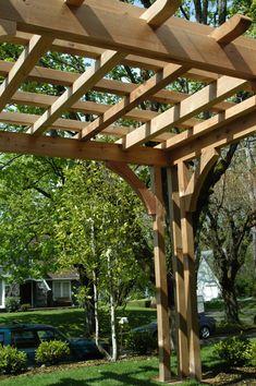 Cedar Pergola Design for Portland Landscaping