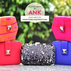 Designer clutch bags by Ank   http://www.theblingstreet.com/designers/ank