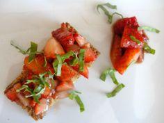 Strawberry balsamic bruchetta