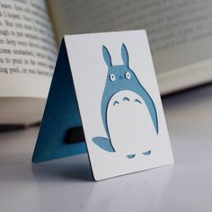 Medium Layered Magnetic Chu Totoro Bookmark by BottlejackStudios, $4.00