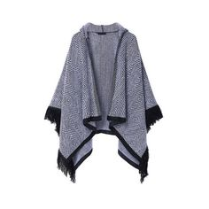 Knit Tassel Hoodie Casual Cape Shawl Women Cardigan ($22) ❤ liked on Polyvore featuring tops, cardigans, as picture, print top, tassel cardigan, cardigan top, patterned tops and knit cardigan