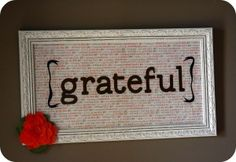 easy to make sign; can also be redesigned for other holidays/sayings