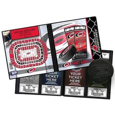 Carolina Hurricanes Ticket Album, Multicolor
