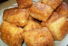 Smažené sýrové jednohubky