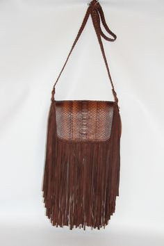 Brown python Gabby with super long fringe.. So fabulous!