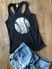Wood Baseball Tank Top – Clutch Sports Apparel Baseball Mom Tank Top, Sport Outfits, Looks Great, Athletic Tank Tops, Lady, My Style, Wood, Sports Apparel, Sleeves