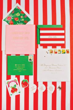 strawberry invitation suite | Katie Stoops #wedding
