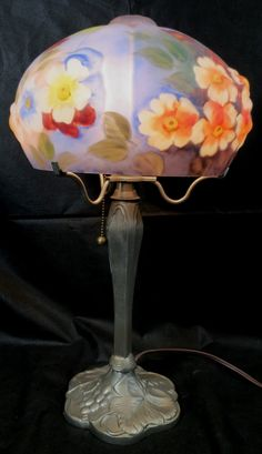 Reverse Painting (Pairpoint Style) Puffy Lamp