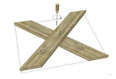 Hoe maak je een tafel van steigerhout? | voordemakers.nl Island Bar, Diy Table, Carpentry, Clothes Hanger, Projects To Try, Woodworking, Outdoor, Furniture, Home Decor