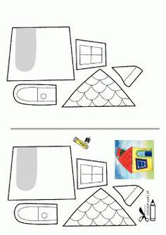 Ev Kalıbı. Home printables. Molde del casa. дом.