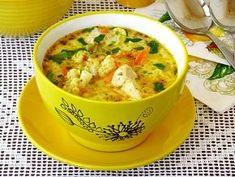 Куриный суп с цветной капустой, горошком и сыром — рецепт с фото пошагово