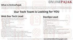 Update tech position vacancies at #OnlinePajak