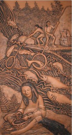 "Artisan Tile North West (ATNW) October 4th 2013 This year's curated show theme: North West Natives. Winner of the Tile Heritage Prize: Jaki Reed. Juror; Cliff Schultz, Owner, Art Tile Company Inc., Seattle, WA. The Tile Heritage Prize ""awarded to the artist in the exhibition whose tile in the juror's opinion best represents the ceramic tile traditions in America."" For more info go to (and scroll down) http://tileheritage.org/files/4d393a16ed0036b9337d8c8f86474c85-74.html"