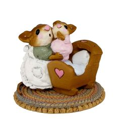 Endeavour Toys - Wee Forest Folk Miniatures - Beddy-Bye Mousey