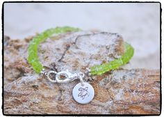 Peridot Square Heshi and Sterling Silver Sea by ShortDogJewelry