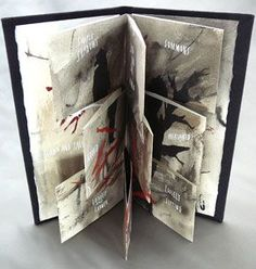 Blown and Fallen, 2007 I like making books with pages that breathe. Translucent paper, cutouts, and divided pages are a few of the ways . Handmade Books, Handmade Art, Handmade Notebook, Up Book, Book Art, Paper Book, Paper Art, Collages, Accordion Book