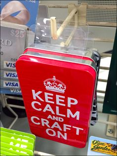 Keep-Calm-and-Craft-On Right-Angle Hook – Fixtures Close Up Union Jack, Keep Calm, Hooks, Grid, Messages, Tips, Crafts, Stay Calm, Relax