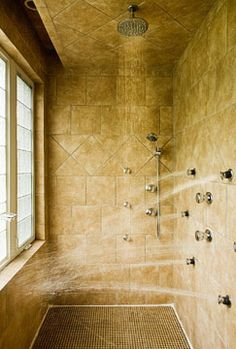 Bathroom shower design ideas travertine tile chairs and lounge chairs - All you need to know about steam showers ...