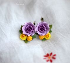 Polymer clay earrings by SeaJewelry