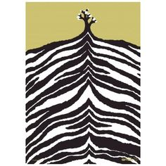 This silkscreen printed poster was designed by artist Kustaa Saksi to celebrate 75 years of Artek. Depicting a hillside, a single tree against the Zebra Print, Animal Print Rug, Scandinavian Home Interiors, Scandinavia Design, Poster Online, Single Tree, Textiles, Monochrom, Silk Screen Printing