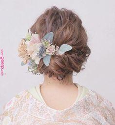 イマドキ愛され花嫁に変身!ヘアスタイル大特集【シーン別】 - Part 2 Bridal Makeup, Wedding Makeup, Bridal Hair, Asian Eye Makeup, Wedding Kimono, Hair Arrange, Hair Setting, Kimono Fashion, Hair Art