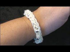 ▶ I-Cord Friendship Bracelet Crochet CrochetGeek Crochet Geek - YouTube