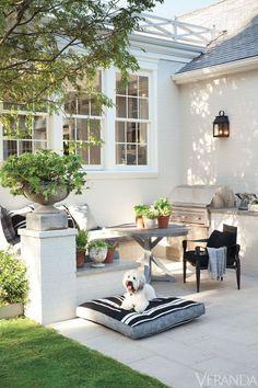 veranda. Concrete like this for backyard