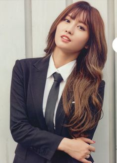Momo in a suit