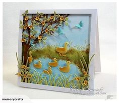 KC-Splitcoaststampers Dare To Get Dirty 2015 Day 7 .For my project today I sponged in the water, ground area and sky using Inkssentials ink blending tools, ColorBox stylus handle and foam tips and mini applicators. Hand Made Greeting Cards, Greeting Cards Handmade, Impression Obsession Cards, Paper Art, Paper Crafts, Accesorios Casual, Bird Cards, Marianne Design, Animal Cards