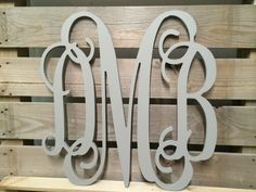 painted monogram extra large wall letters cursive wooden letters wedding guest book