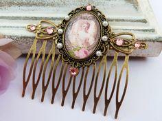 Edler Barock Haarkamm in rosa bronze antik von Schmucktruhe auf Etsy, €19.50