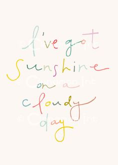 Home Art Print - Home Decor - I've Got Sunshine - 5x7. $10.00, via Etsy.