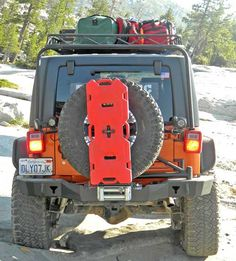 Rear Smuggler Bumper w/ Tuff n EZ Tire Carrier for Jeep Wrangler JK & Unlimited JK 2007-2013