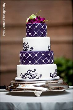 Google Image Result for http://aweddingcakeblog.com/wp-content/uploads/2012/03/Purple-and-White-Wedding-Cake.jpg