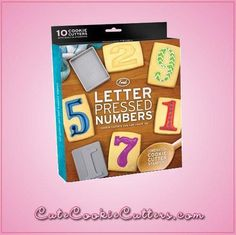 Letterpressed cookies have a unique, vintage look that is perfect for any occasion. With these Letter Pressed Numbers Cookie Cutters, you'll receive a complete