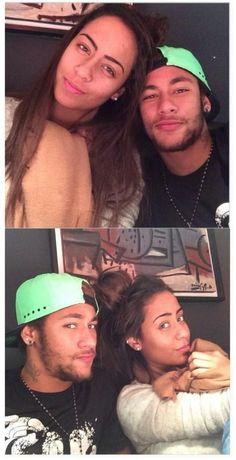 Jogador #NeymarJr e sua irmã Rafaela.<3