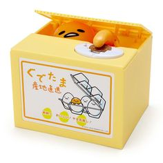 New-Sanrio-Gudetama-talking-Itazura-Coin-bank-Kawaii-Amusing-Toy-From-JAPAN