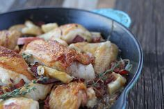 The Zenbelly Cookbook Sneak Peek: pan-roasted chicken with bacon and apples - zenbelly