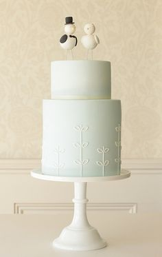 love bird wedding cake by hello naomi, via Flickr