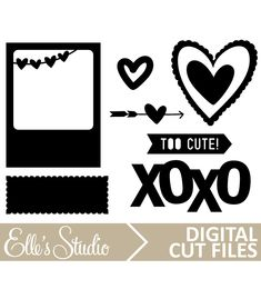 February Digital Cut File by Elle's Studio