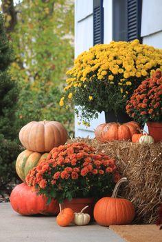 Fall Front Porch decor Outdoor fall decor - Fall outside decor - Halloween Ideas