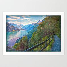 Panorama Trail Art Print by Hanny Heim - $25.30