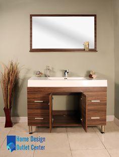 At 8042 Gw 47 Single Modern Bathroom Vanity Set Walnut Home