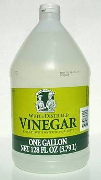 one gallon white vinegar plus one ounce dish soap = natural weed killer