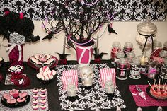 Halloween party tables