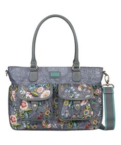 18fd5890333d Love this Gray French Flowers Medium Convertible Tote by Oilily on